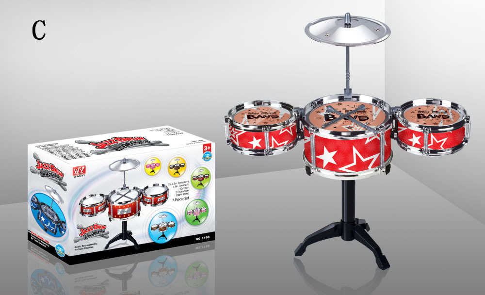 7pieces series Educational Toys for children Musical Instrument Drum kit toys Tom-tom Drum set toys Jazz drum baby toys(China (Mainland))