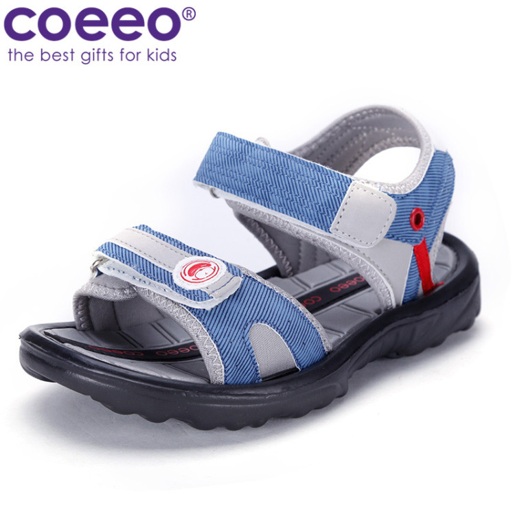 Long 32 yards / shoes COEEO Kayi Ou brand shoes Boys Girls Shoes summer sandals children sandals F132527 light gray / blue 20.4c(China (Mainland))