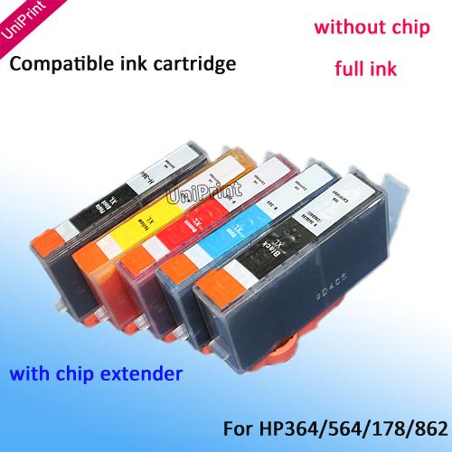15 x ink cartridge inkjet cartridge for HP 564 364 178 862 B8550 B8553 C6300 C6380 C6383 D5460 D5463 D7560 5510 5515 6510 7510(China (Mainland))