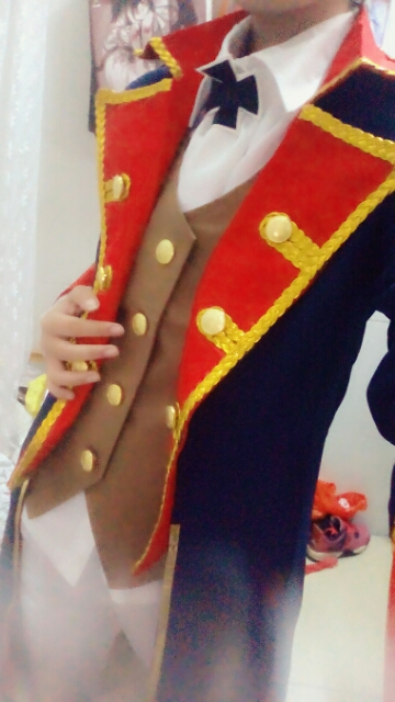 APH Axis Powers Hetalia Prussia Cosplay Costume with hat