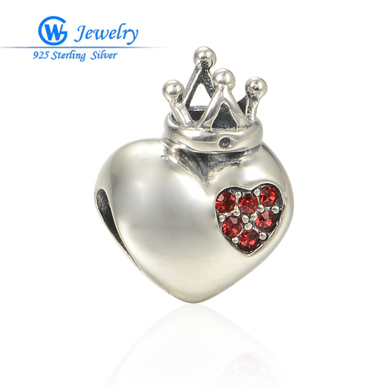 New! Hearts Jewelry 925 Sterling Silver Charm European Charms Silver Beads Fits Leather Bracelets For Women GW Fine Jewelry X348<br><br>Aliexpress