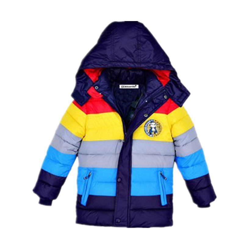 Children Jackets Boys Girls Winter down coat 2017 Baby Winter Coat Kids warm outerwear Hooded Coat for 2-7 yrs Children Clothes(China (Mainland))