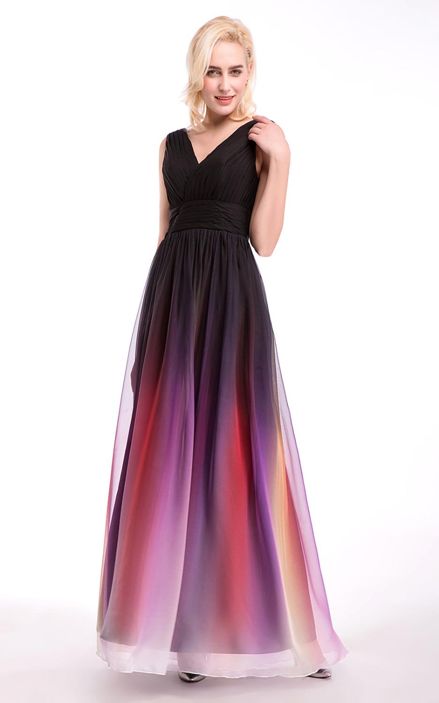 2016 chiffon purple gray blue bridesmaid dress in stock for Purple and grey wedding dresses