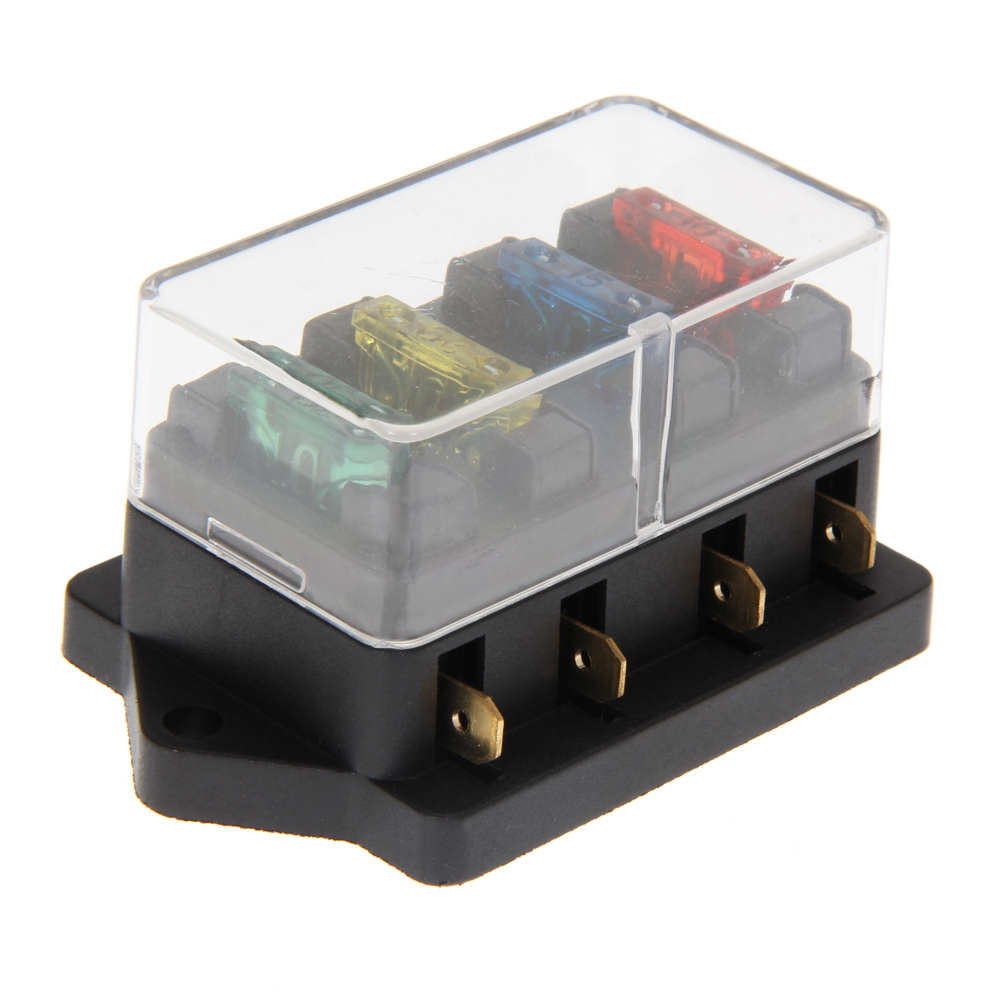 12v dc fuse box reviews online shopping 12v dc fuse box reviews 4 way fuse box dc 12v 24v max dc 30v 4 way circuit standard blade fuse box block holder 4 fuse car accessories