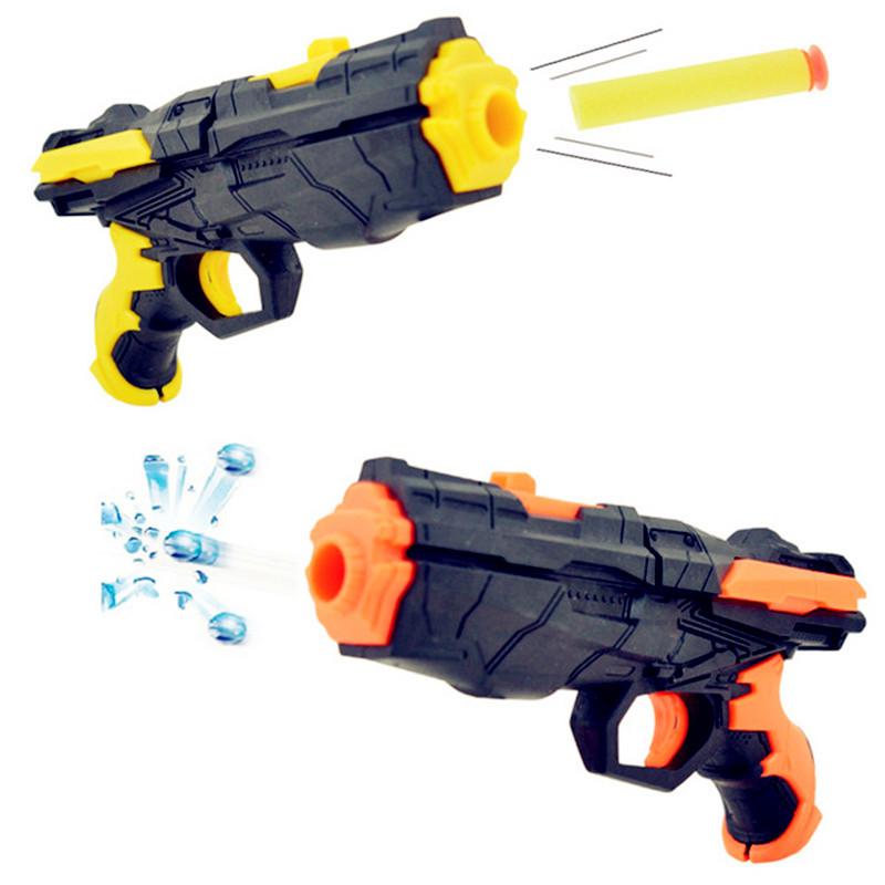The latest soft bullet gun water gun toy EVA bullet + water bomb dual-purpose pistol bursts of crystal toy shooting nerf(China (Mainland))
