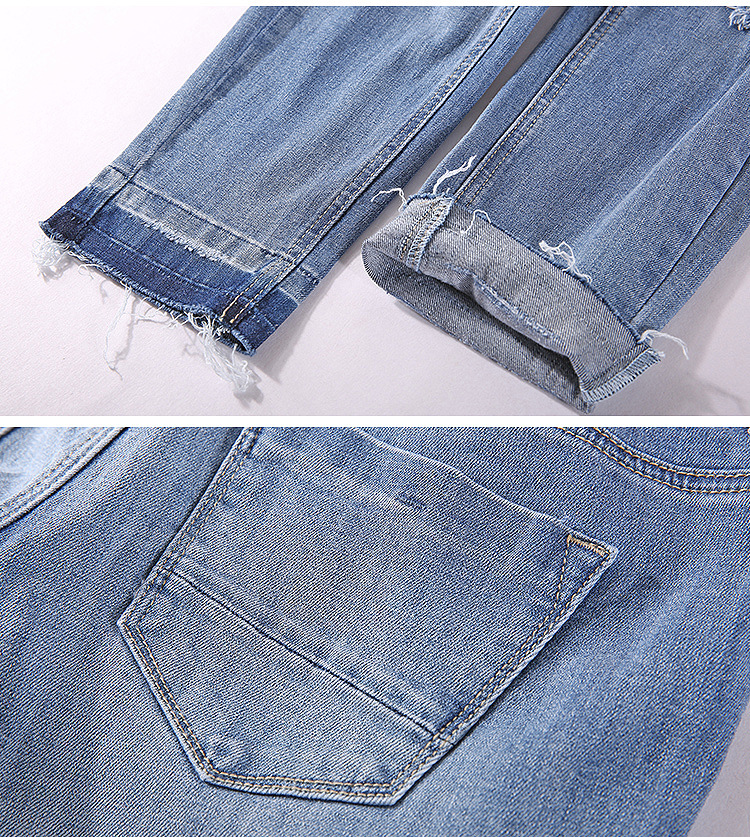 Скидки на 2016 новый летний Европа ветер стиль мягкой джинсовой с молнии, карманы, отверстие, отбеленные и кнопка полный длина тощий женские джинсовые TZ-037