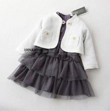 2015 new baby girls dress for spring and autumn ,girls princess dress with long-sleeve ,baby birthday cotton dress.(China (Mainland))