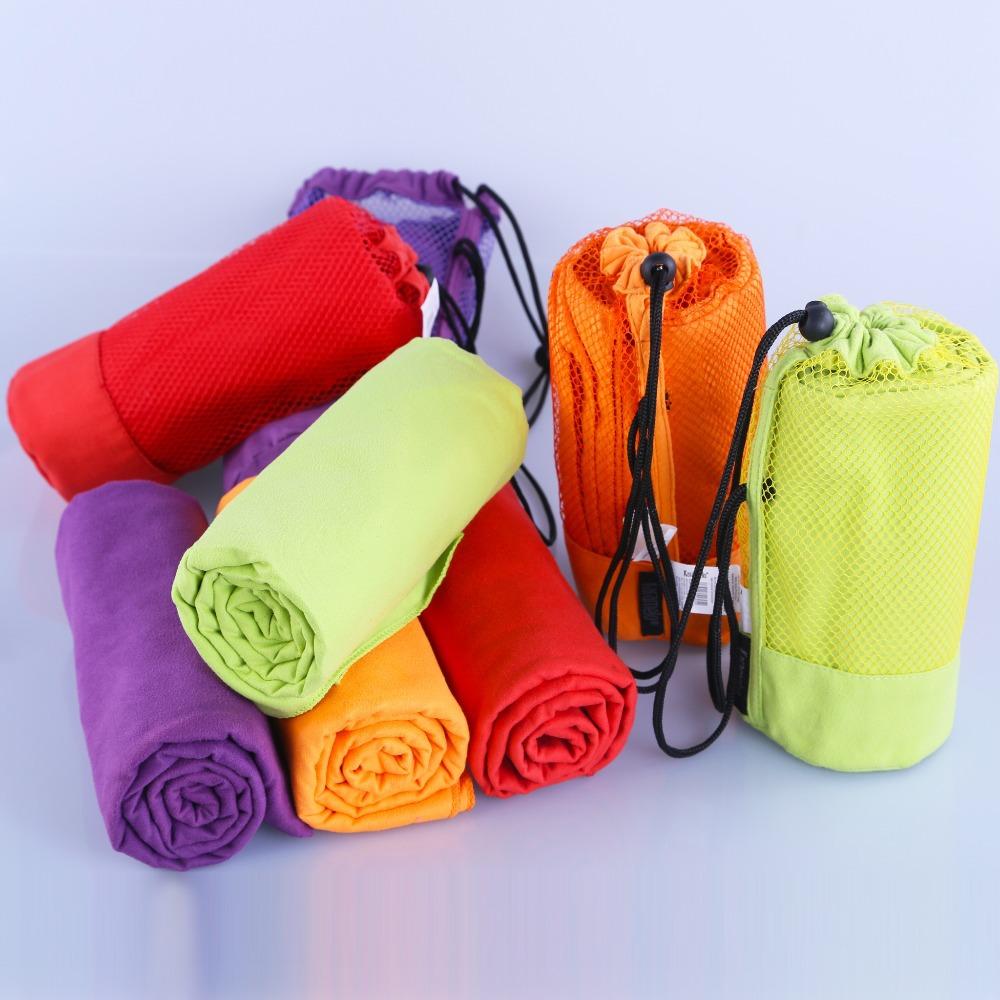 Sports Towel With Bag 70x130cm Larger Size Microfiber toalha de esportes Swimming Travel Gym Towel(China (Mainland))