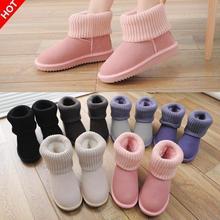 Hilados de invierno femenina botas de nieve zapatos de mujer de cuero genuino botas antideslizante corto, además de terciopelo de algodón acolchado zapatos de las mujeres(China (Mainland))