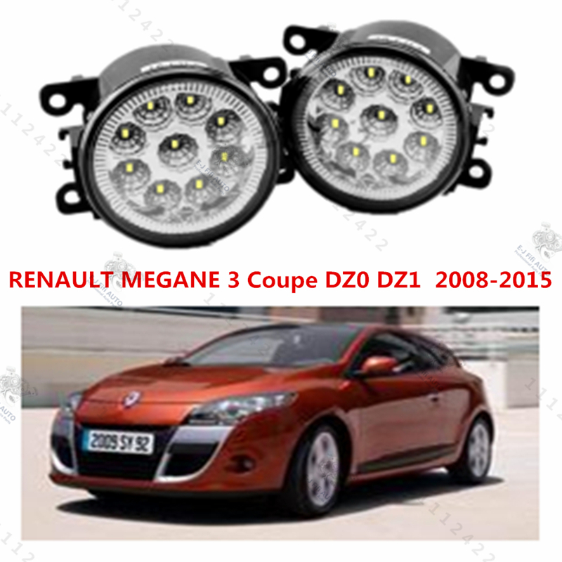 for RENAULT MEGANE III Coupe (DZ0/1_) 2008-2015 for front bumper high brightness LED Fog lights lamp lamps Car styling 1set(China (Mainland))