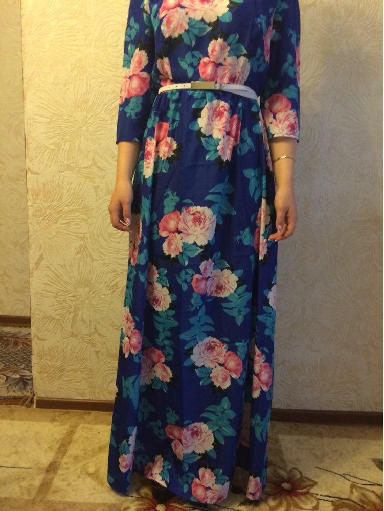 maxi dress three quarter sleeves