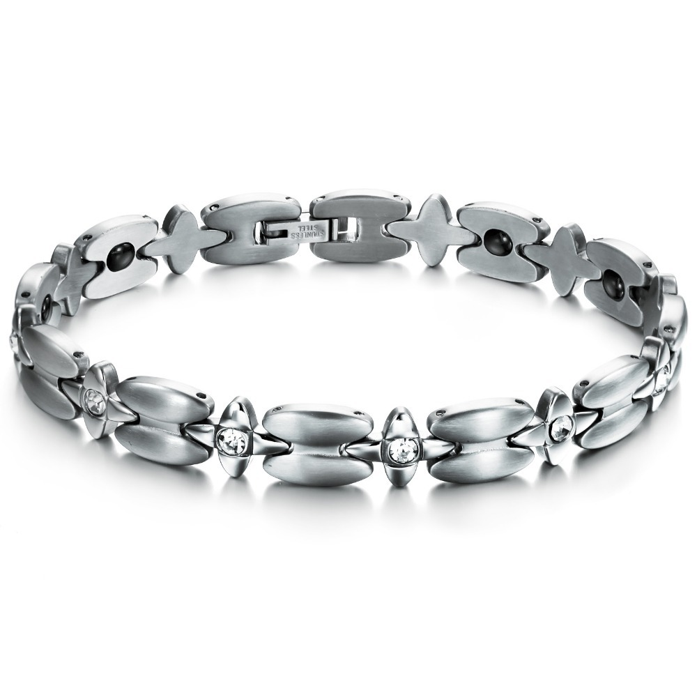 fashion friendship bracelets titanium steel health magnetic bracelet femme ladies magnets. Black Bedroom Furniture Sets. Home Design Ideas