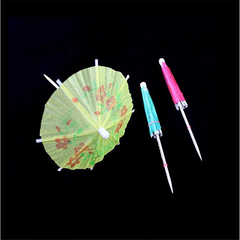 30pcs Wedding decorations for fruit / cocktail mini umbrellas peacock drink picks party picks art toothpick paper garland cake(China (Mainland))
