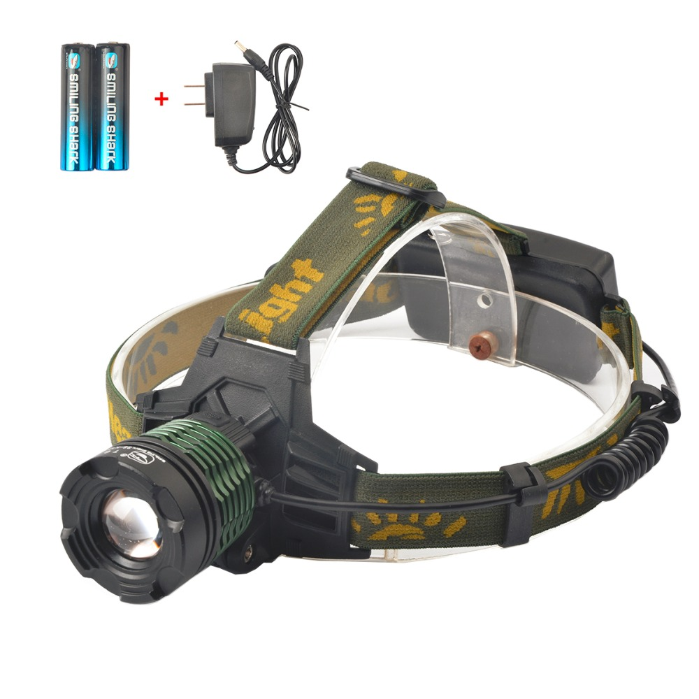 Super Bright 2000 Lumens Adjustable Focus Zoomable CREE T6 LED Headlamp, 3 Modes Waterproof Headlight for Outdoor Sport(China (Mainland))