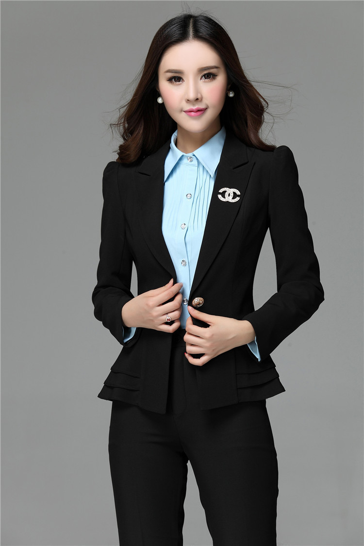 Luxury Pants Elegant Women Pantsuits For Office Ladies Business Suits Women