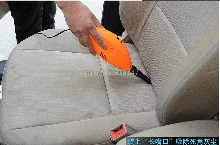 Factory pricce New arrival Blue/orange/green Mini DC 12V Powerful Use Car vacuum Cleaner Portable Dust Collector Cleaning(China (Mainland))