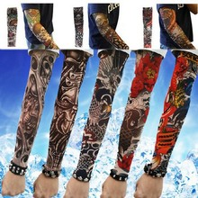 Free shipping New explosion Elastic Fake Temporary Tattoo Sleeve Designs Body Arm Stockings Tatoo for Cool Men Women(China (Mainland))