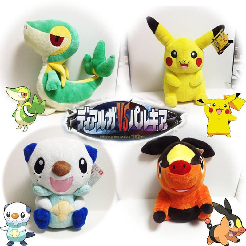 Pokemon Plush Toy Pikachu Oshawott Snivy Tepig 1pcs 30cm Soft Stuffed Animal Plush Doll With Tag Plush Toys For Children Gift(China (Mainland))