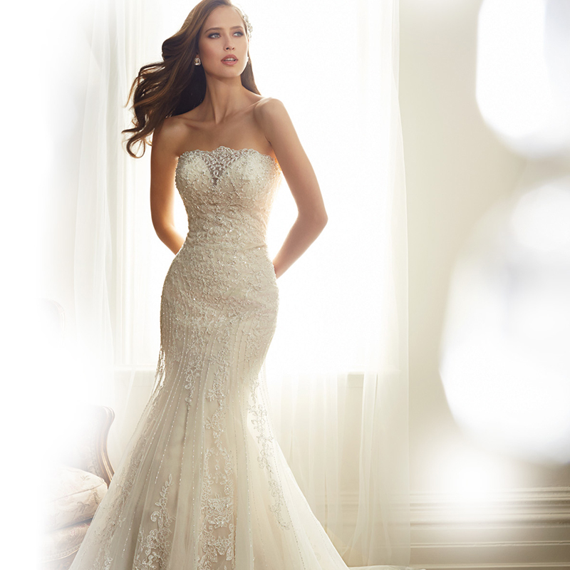 Mermaid wedding dresses 2015 new romantic sweetheart for Romantic vintage lace wedding dresses