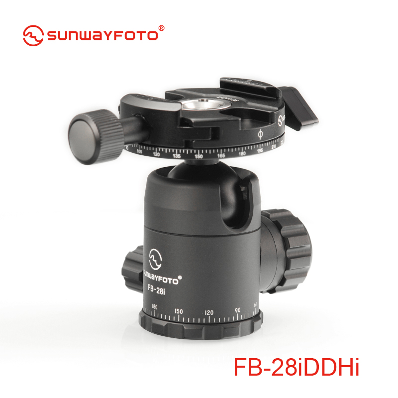 SUNWAYFOTO FB-28DDHI Tripod Mini Ball Head Quick Release Clamp For DSLR Panoramic BallHead Release Clamp with Arca Plate(China (Mainland))