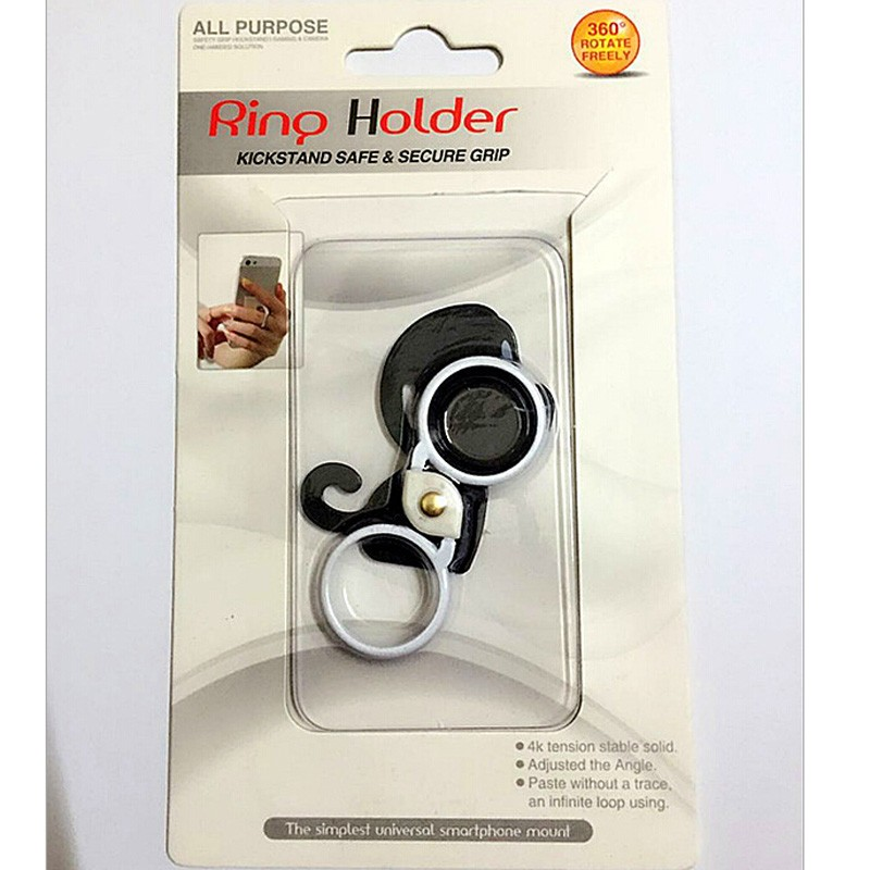 2016 New Monkey Double Finger Ring Universal Phone Holder Stand For iPhone Samsung Xiaomi Huawei Phone Tablet Dock Accessory