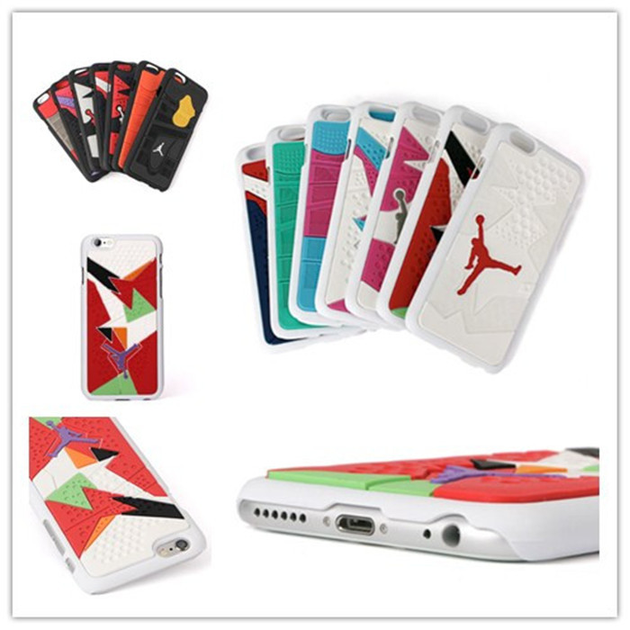 New Arrival 3D Jordan Sneakers Sole PVC Hard Cover Case For iPhone6 Jumpman 23 Phone Case For iphone6 4.7 '' Free Shipping (China (Mainland))