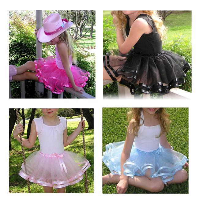 Mint Satin Ribbon Edge Pink Baby Tutu Skirt And Ribbons Trim Kids Tutu Skirt Summer Fluffy Tutus Skirt Girl(China (Mainland))