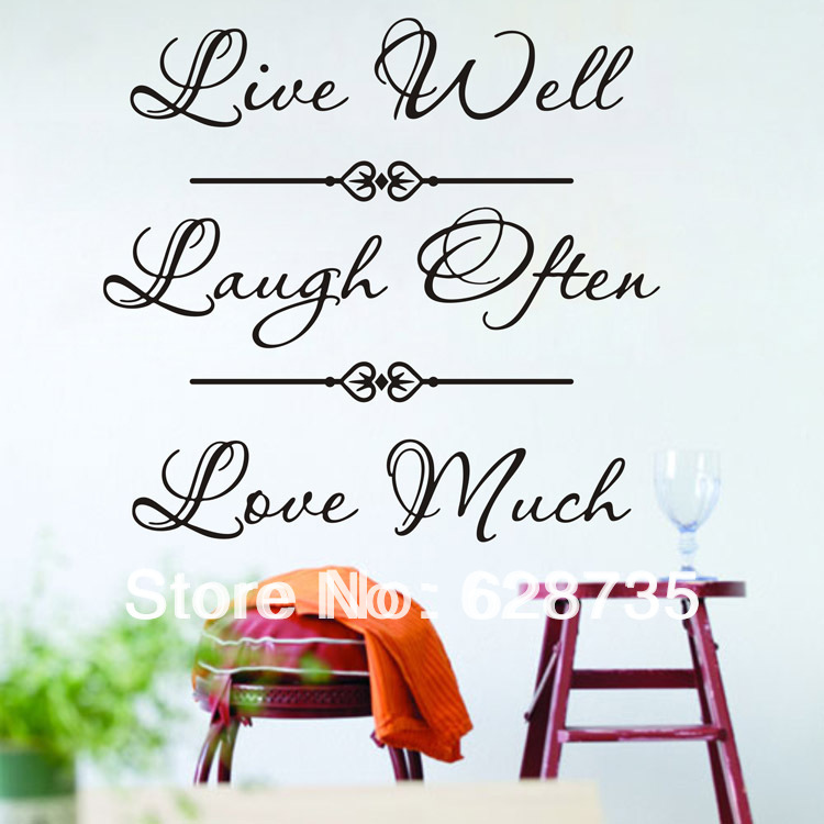 Live Well Laugh Often Love Much Wall Decor