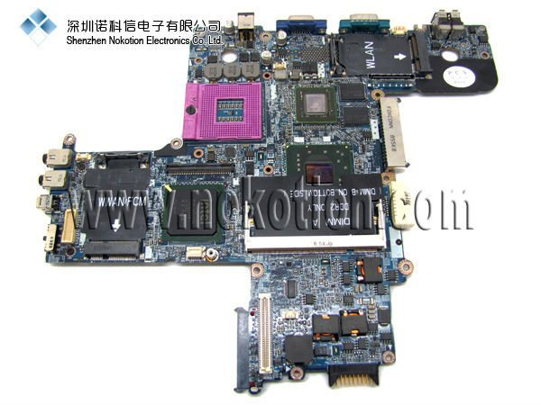 Hot Sale For DELL D630 Laptop motherboard p/N:R872J R873J Intel with nvidia chip ddr2 Socket PGA478 Mainboard full tested(China (Mainland))