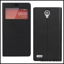 S View Side Flip Stand Smart Leather Case for Xiaomi Redmi Note,Red Rice Note