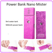 Mini Portable Alumium Case Nano Handy Mist Sprayer Facial Beauty Steamer With Power Bank 500mAh