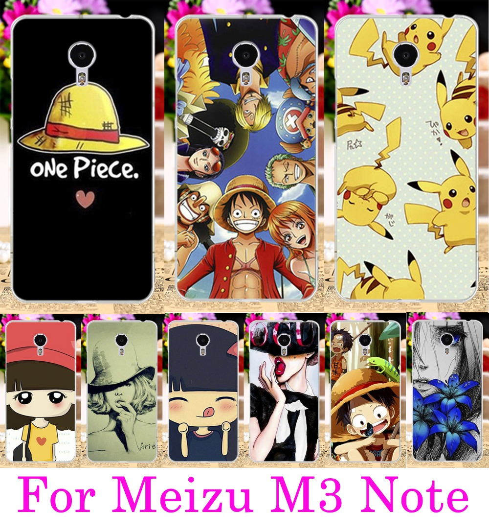 5.5 Hard Plastic Phone Cases For Meizu Meilan Note 3 Cover Cellphone Cute Little Girl Yellow Little Hat For Meizu M3 Note Case(China (Mainland))