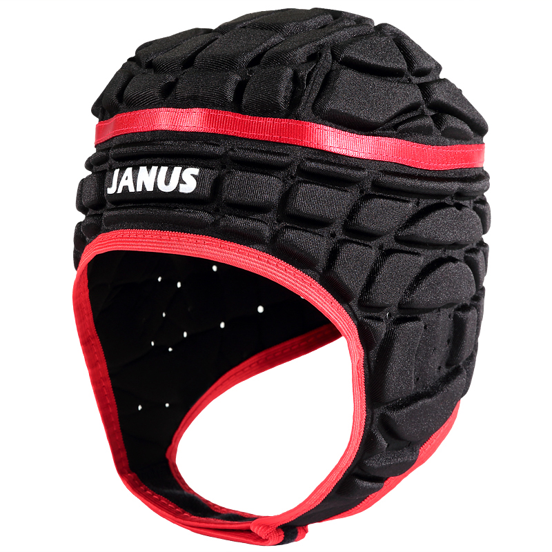 Janus Men's Football Soccer Goalkeeper Helmet Rugby Scrum Cap Headguard Black Red Goalie Roller Hat(China (Mainland))