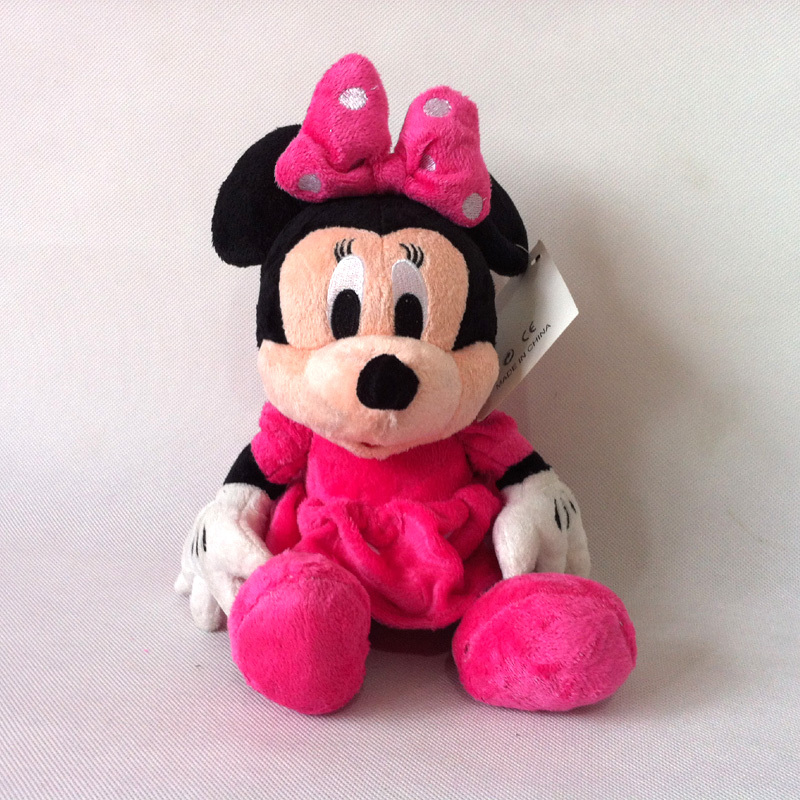 1pc 30cm Mini Lovely Mickey Mouse And Red pink Minnie Mouse Stuffed Animals Plush Toys For Children's Gift(3 color)(China (Mainland))