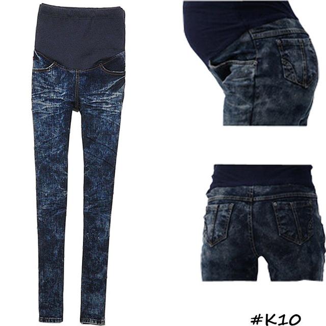 Весна осень регулируемый пояс для беременных большой размер джинсы беременная одежда ...