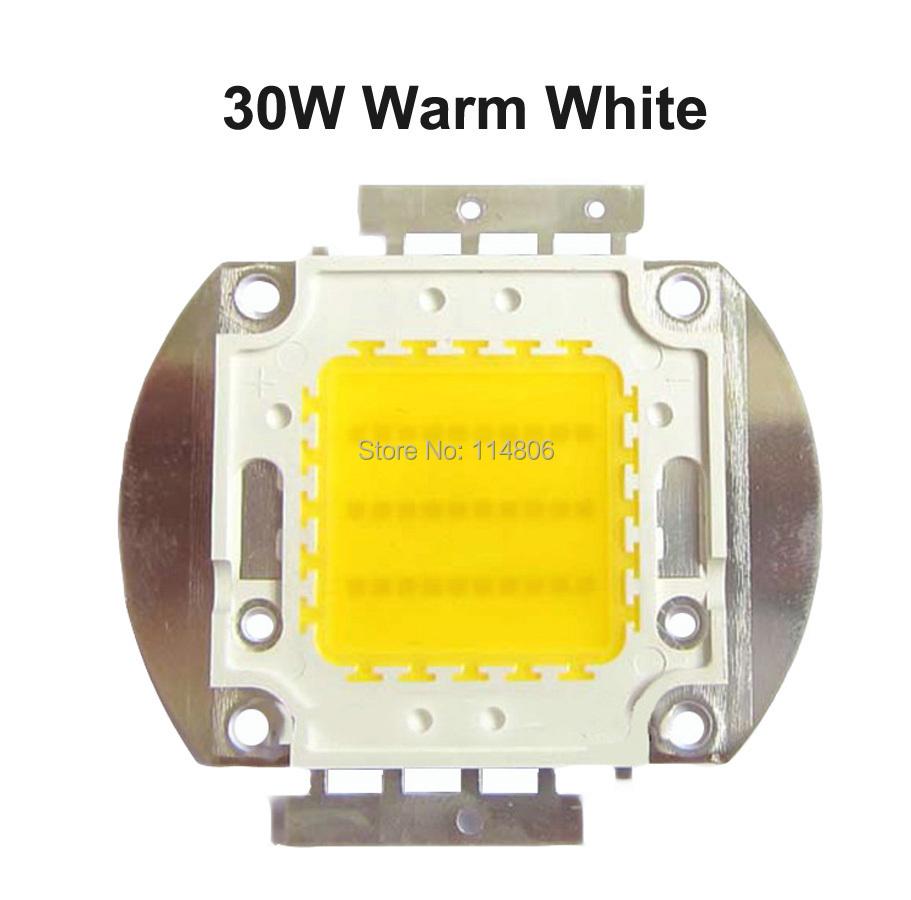 30W 45mil Chip Warm White 2600~3000LM 3000~ 3500K COB LED SMD LED Light Parts Lamp Bulb(China (Mainland))