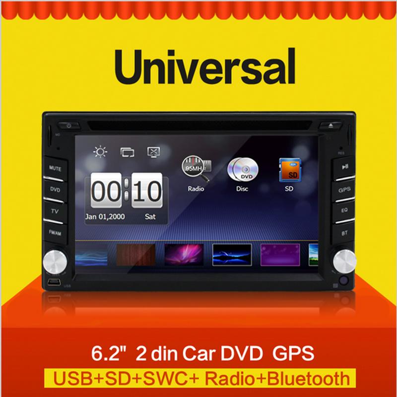 New universal Car Radio Double 2 din Car DVD Player GPS Navigation In dash Car PC Autoradio Stereo video+Free Map(China (Mainland))