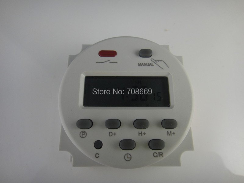 AC 220V Digital LCD Power Programmable Timer Time switch Relay 16A<br><br>Aliexpress