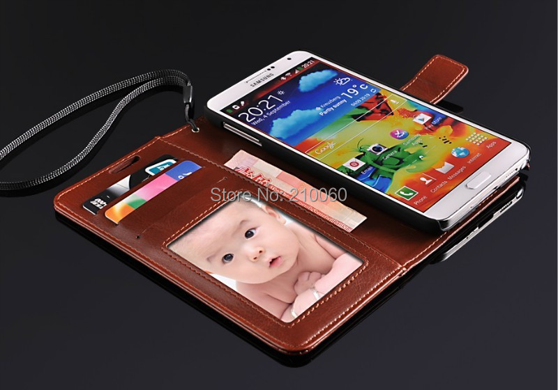 phone cases Folio Wallet Credit Card Slots Photo Frame PU Leather Case Samsung Galaxy Note3 N9006 - UFavors store
