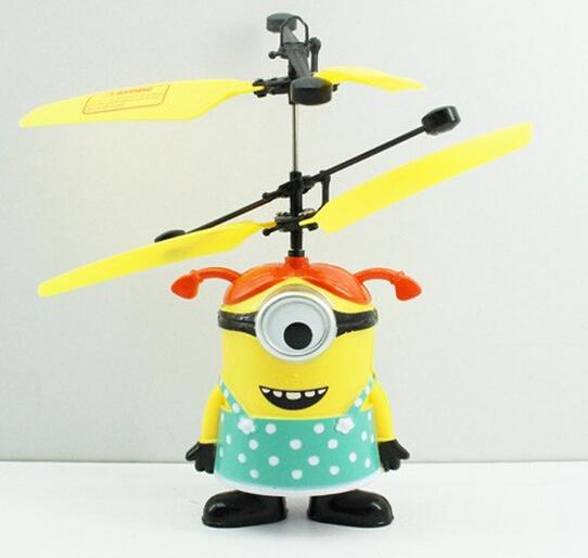 Best Price ! Girl New Remote Control RC Helicopter Flying Despicable Me Minion Quadcopter Drone Ar.drone Kids Toy VS Fairy Doll(China (Mainland))