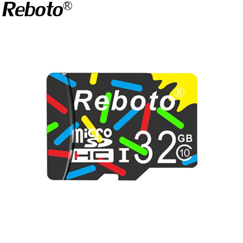 Reboto colours MicroSD 32 GB 64GB Class10 UHS1 Flash Memory Card 16GB 8GB 4GB class6 Micro sd card TF Card for Smartphone Camera(China (Mainland))