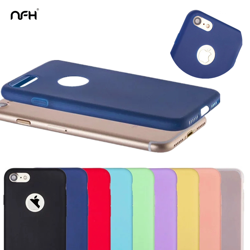 Cute girl Soft tpu Silicone Celular For Apple iPhone 4S 5S SE 6S Plus 7 Boy Slim Shell 9 color Back Cover Case on 4 5 6 7 Plus(China (Mainland))