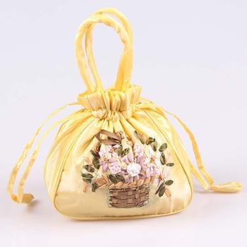 Горячая распродажа свадебный атласные розы клатч свадьба ну вечеринку сумочка дамы свадебный мешок