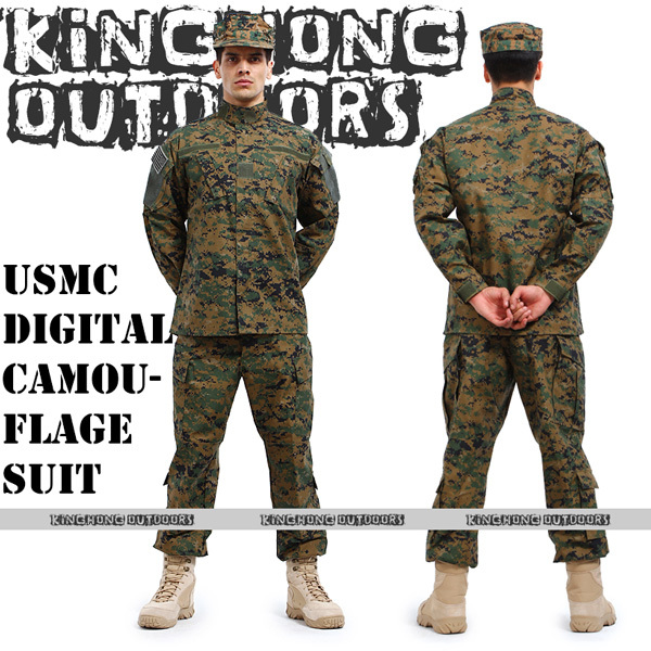 BDU USMC Camouflage suit sets Army Military uniform combat Airsoft -Only jacket & pants(12017) - KINGHONG CO LTD store