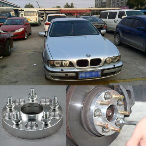 4pcs New Billet 5 Lug 14*1.5 Studs Wheel Spacers Adapters For BMW 5 Series E39(China (Mainland))