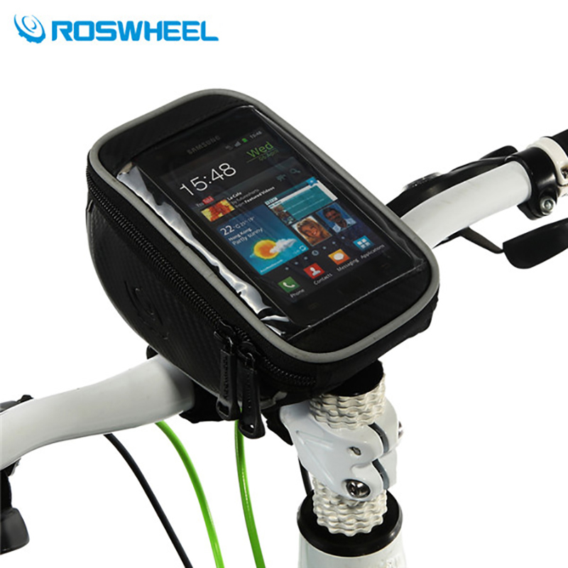 2016 ROSWHEEL MTB Road Bike Bags Touch Screen Cycling Bicycle Front Handlebar Bag For 4.2'/5'/5.5' Phone Cases Bike Accessories
