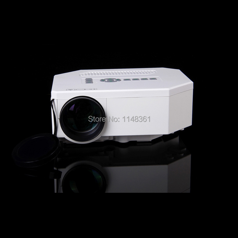 2016 new white mini portable smart projector free shipping reviews for Small projector reviews