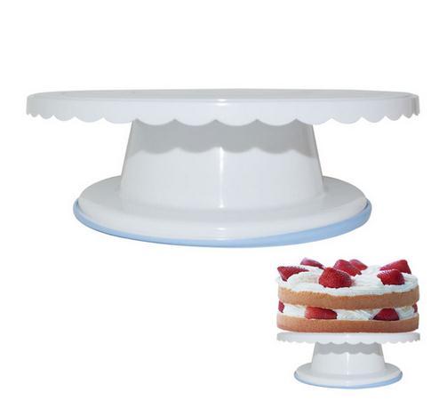 New Coming DIY Revolving Cake Turntable Cake Stand Platform Cake Sugarcraft Cake Plate Baking Pastry Tool Cupcake Stand Hot Sale(China (Mainland))
