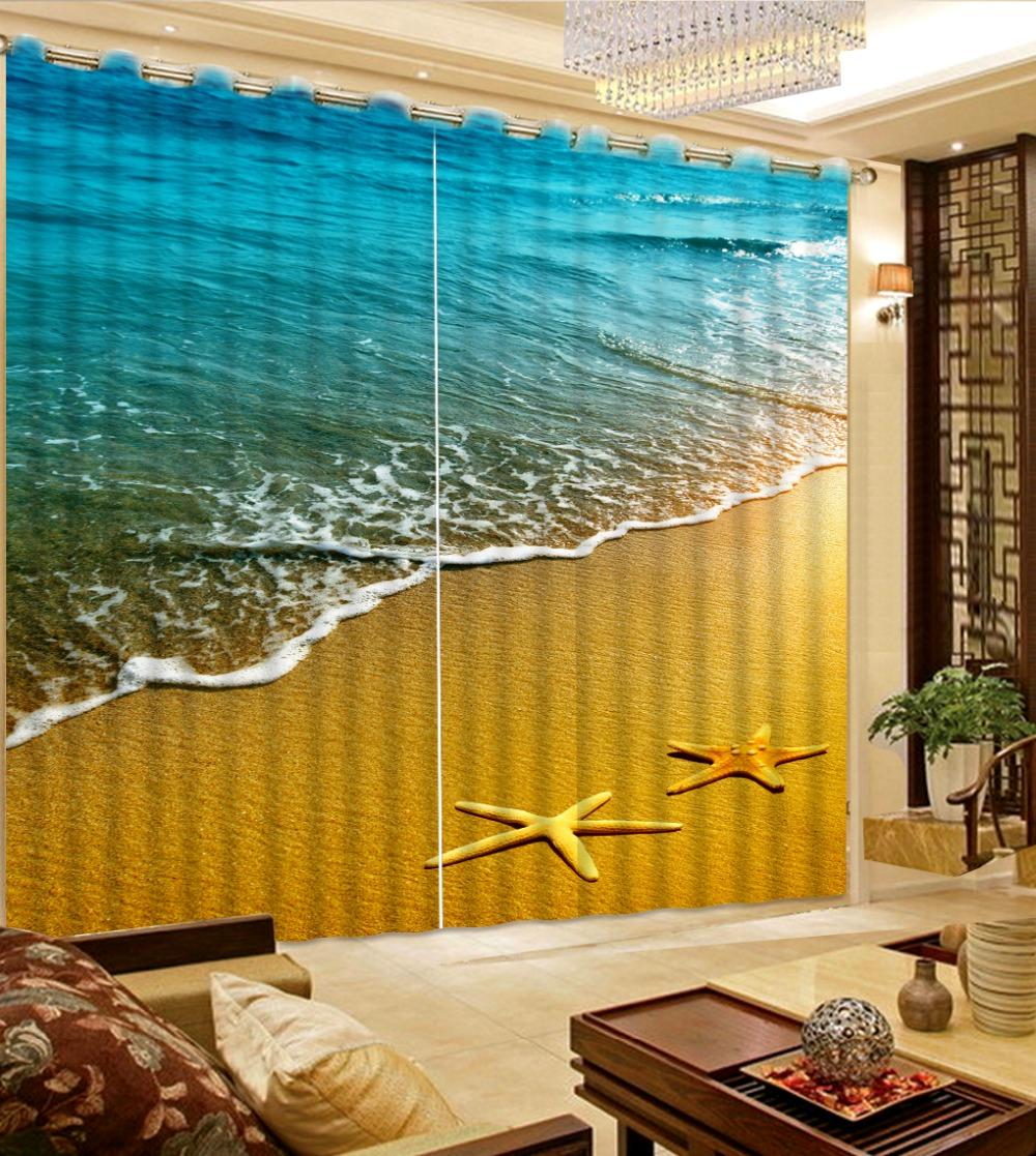 modernos cortinas foto d starfish praia cortina moda cortina de tecido cortinas da salachina