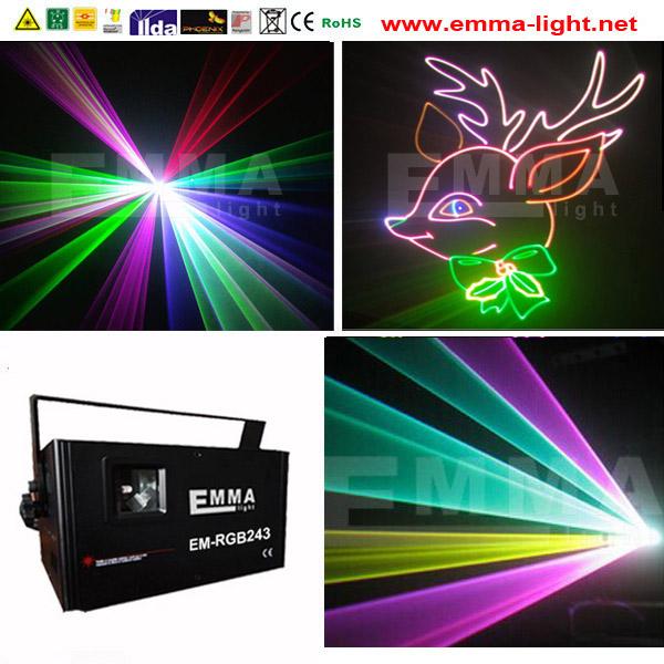 2000w 2w RGB LASER SHOW DMX ILDA SDCARD in Stage Lighting